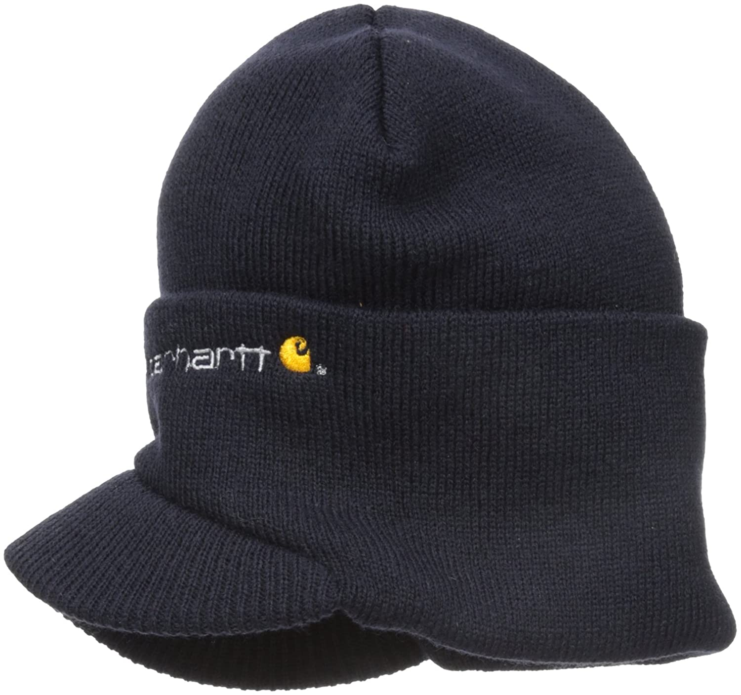 c21034b1 Carhartt Men's Knit Hat With Visor at Amazon Men's Clothing store: Skull  Caps
