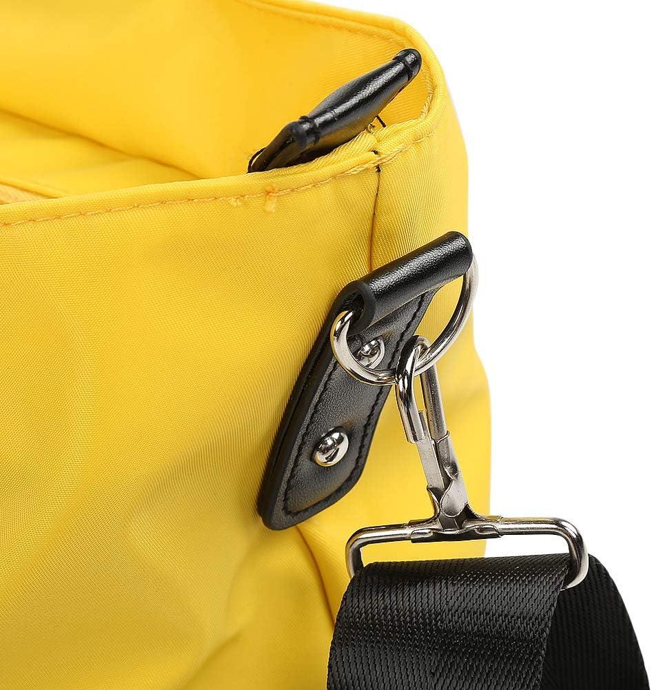 Amarillo Bolsa de pa/ñales a prueba de agua de m/últiples funciones para la madre Gran capacidad Durable bolsa de hombro del panal al aire libre para el cuidado del beb/é