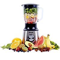 Duronic BL10 Blender/Mixeur Puissant de 1000W en Acier Inoxydable avec Carafe de 1,5 Litre - Idéal pour Smoothies, Milkshakes, Gaspachos, Compotes, Glace pilée, Fruits à coques