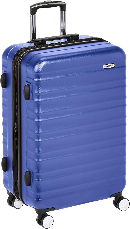 AmazonBasics - Maleta rígida de alta calidad, con ruedas y cerradura TSA incorporada - 68 cm, Azul