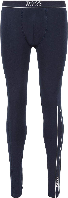BOSS Herren Long John 24 Logo Lange Unterhose aus Stretch-Baumwolle mit hei/ßversiegeltem Logo