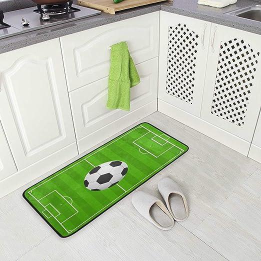 Mnsruu - Alfombra de fútbol para Cocina, 50 x 100 cm, diseño de ...