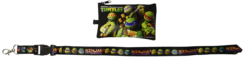1 X Ninja Turtles Black Lanyard with Coin Purse