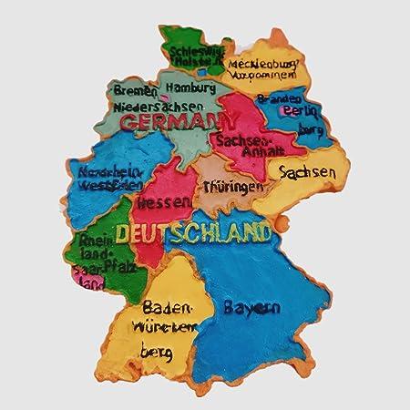 Imán 3D para nevera con diseño de mapa de Alemania de Deutschland: Amazon.es: Hogar