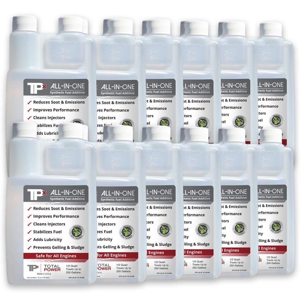 TPx All-In-One - Fuel Additive for All Fuels - Biodegradable - Reduce Emissions by 50% 12 pack 16oz Bottles by TPx All-In-One