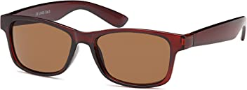Klassische Unisex-Wayfarer Sonnenbrille in Schwarz oder Braun- 100% UV400 Schutz (Braun)