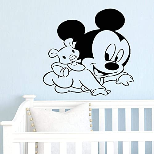 Amazon Com Mickey Mouse Minnie Mouse Wall Decal Boy And Girl