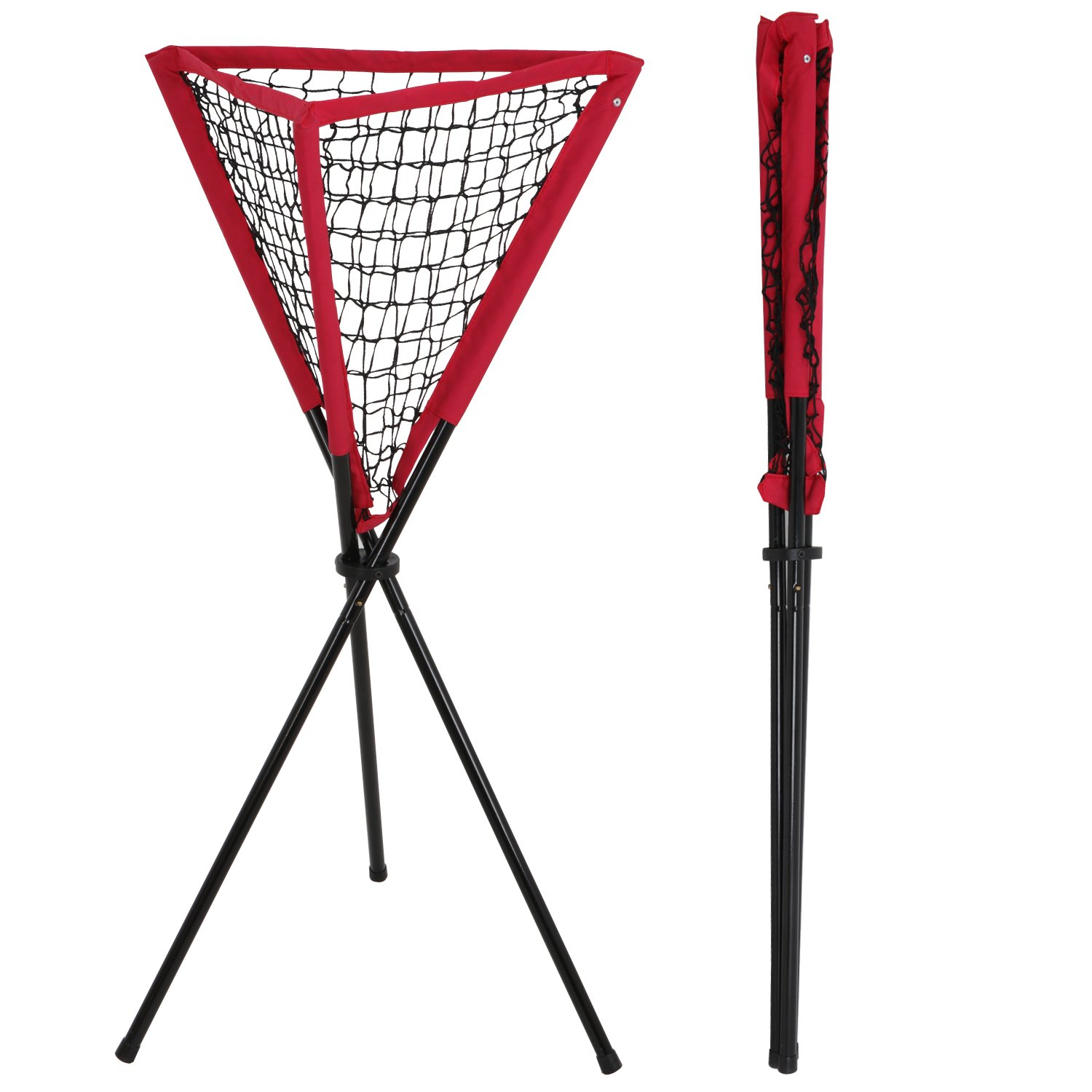 ZENY 7' x 7' Baseball Softball Practice Hitting Pitching Batting Net with Bow Frame,Carry Bag,Great for All Skill Levels (Ball Caddy) by ZENY