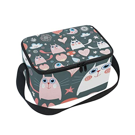 Amazon.com: Cute Cartoon Cat Patrón de impresión caja de ...
