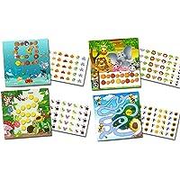 Recompensa para niños con 4x Recompensa Sistema Animales/multicolor