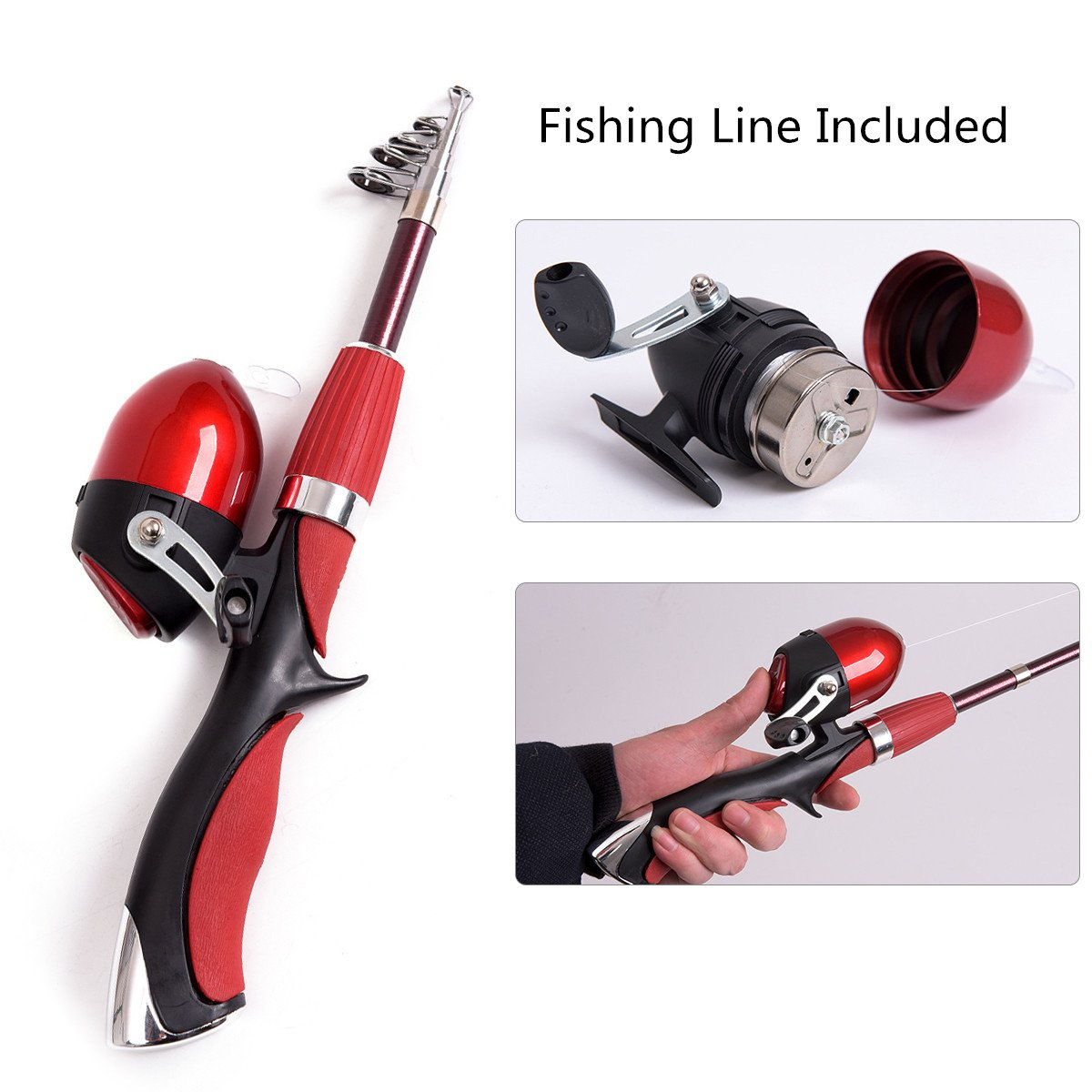 IEBIYO Fishing Pole for Kids, Fishing Rod and Reel Combos, Fishing Kit Set