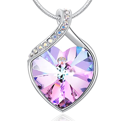 85e1cf93b PLATO H ❤Gift Packaging❤ Crystals from Swarovski, Love Heart Necklace  Eternal Love Crystal Pendant Necklace for Women, Birthday Birthstone Jewelry  Gifts ...