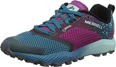 Merrell All out Crush 2 GTX, Zapatillas de Running para Asfalto para Mujer, Multicolor (Clover/Ocean), 36 EU: Amazon.es: Zapatos y complementos