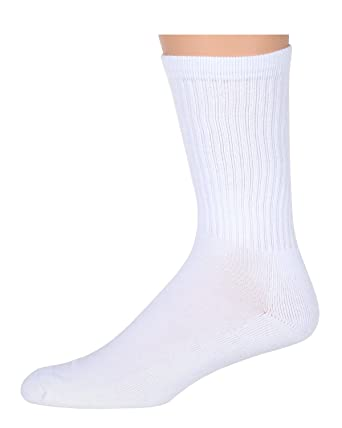 BLANK WHITE SUBLIMATION CREW SOCKS - PRINTABLE, SUBREADY, IN 10-13 LARGE  SIZE FOR MAN AND WOMEN IN 6 PAIR PACK