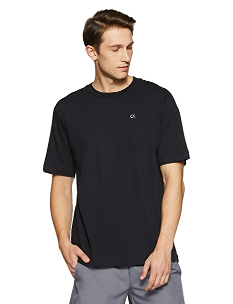d7ecff6ebfc11 Calvin Klein Performance Active Icon Back Panel Stretch Cotton Relaxed Fit Short  Sleeve Tee  Amazon.in  Clothing   Accessories
