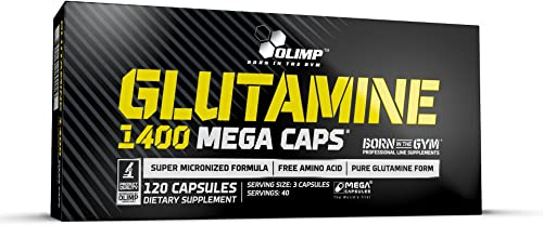 L Glutamine Capsules - Muscle Recovery - L Glutamine Supplement - Lglutamine Capsules - Glutamine Pills - Glutamic Acid - Pure L Glutamine Capsules - Olimp Glutamine 1400-120 Capsules - 40 Servings