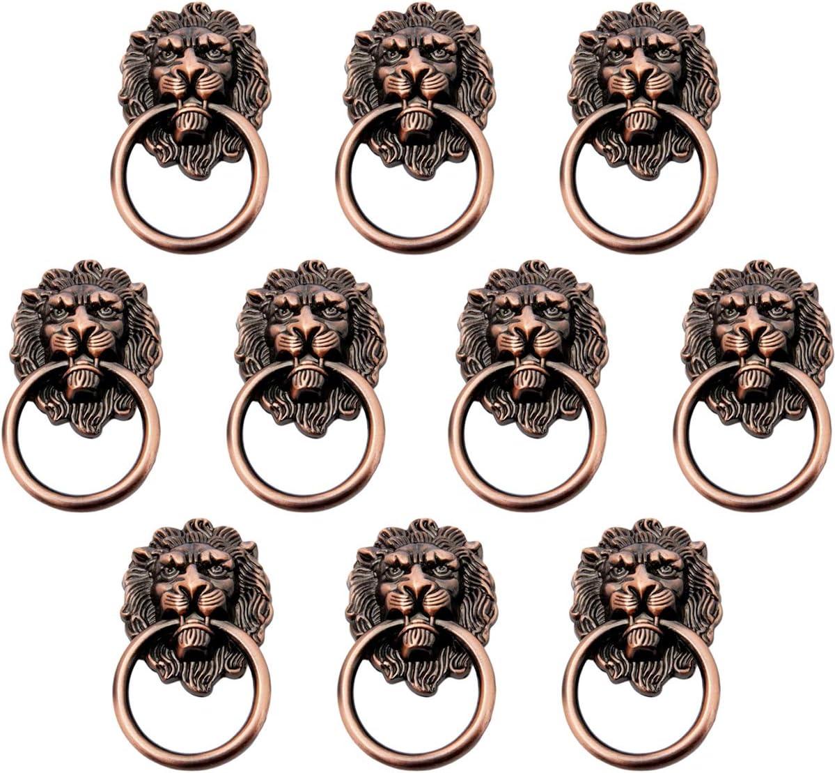 10pcs Creatwls Metall L/öwe Kopf Design M/öbelgriff Schrankgriff M/öbelknopf Zink-Legierung Schrankgriff Kabinett Griff Kleiderschrank Knopf M/öbelzubeh/ör