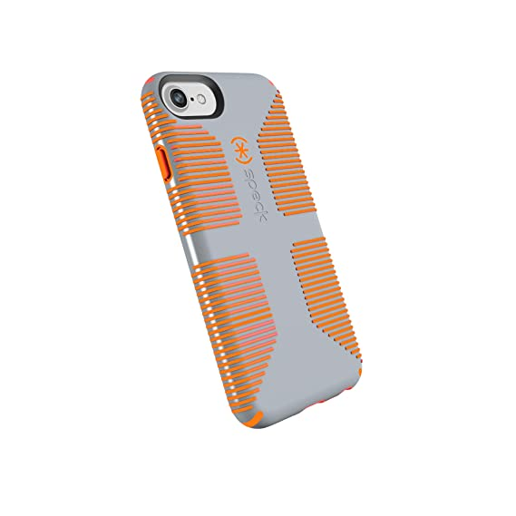 separation shoes 875fe 203a9 Speck Products 79239-B994 CandyShell Grip iPhone 8 Case, Also fits iPhone  7/6S/6 - Nickel Grey/Warning Orange