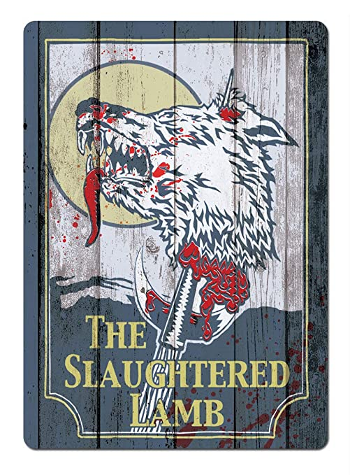 BORJOR Slaughtered Lamb -Cartel de Pared estaño Placa Metal ...