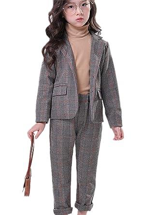 5ce60610b6520 IWFREE 子供セット 女の子 2点セット ガールズ パンツスーツ コート パーカー ズボン キッズ フォーマルスーツ