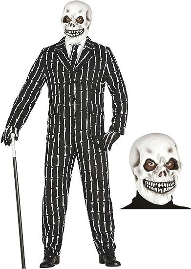 Disfraz de Esqueleto con traje y mascara: Amazon.es: Ropa y accesorios