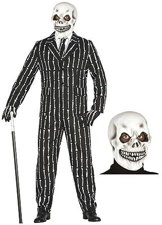 Disfraz de Esqueleto con traje y mascara: Amazon.es: Ropa y ...