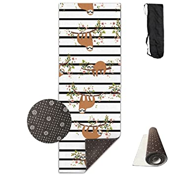 Cute Sloth Climb Tree Humor Pug Yoga Mat Towel For Bikram/Hot Yoga, Yoga
