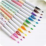 Creative Design Korea Stationery Mini Multicolour Pen 0.5mm Resurrect Water-based Pen Random Color