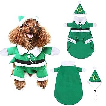Amazon.com: Scenereal - Gorro de Navidad para perro, diseño ...