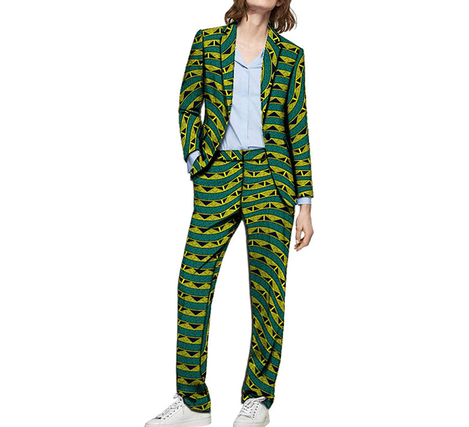 8 Kongsta Fashion Print Women Blazers with Trousers Set Clothing Ladies Pant Suits Wedding Suits Plus Size