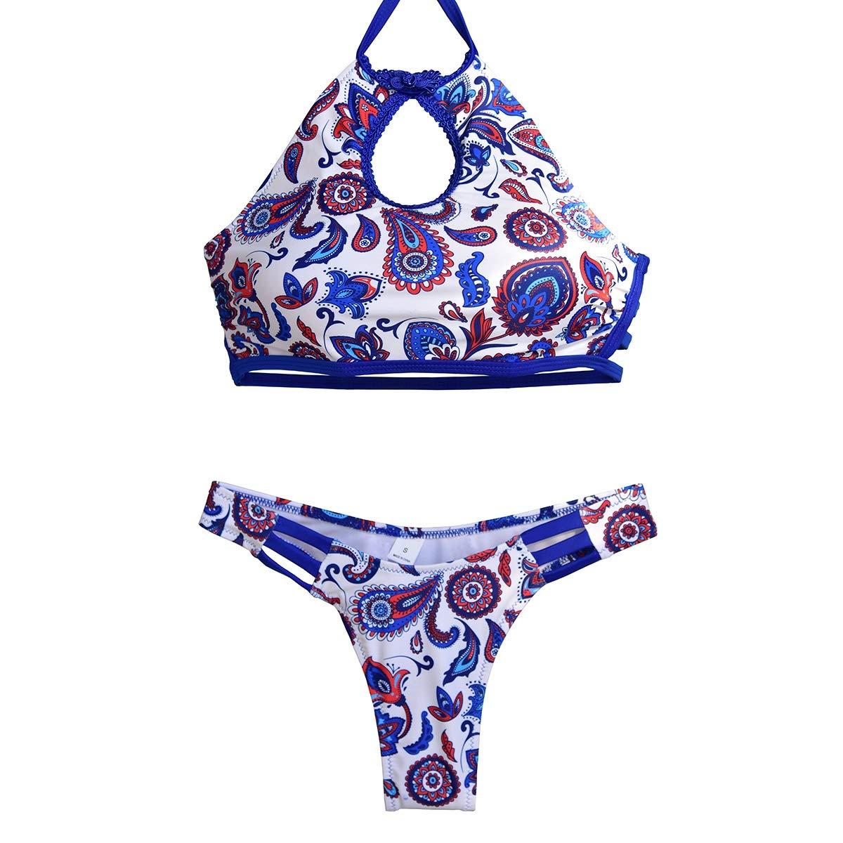 Medium HARDY-YI - Bikini Bikini - Bikini Haut de Gamme de Couleur Unie Bikini Dudou Bikini Split - 0554 (Taille   M)