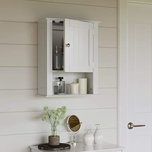 RiverRidge Ashland Collection Single Door Wall Cabinet, White