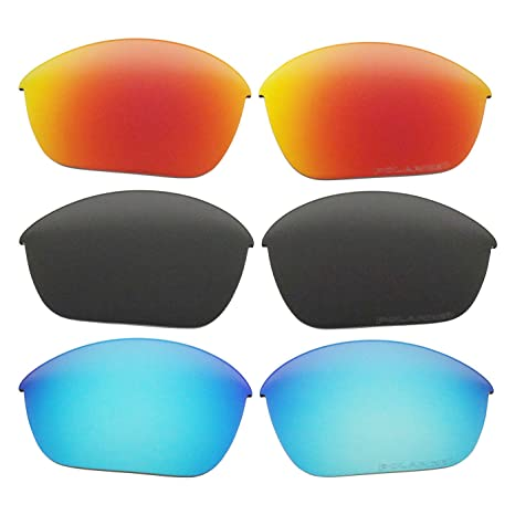 ecc8050b7f Image Unavailable. Image not available for. Color  3 Pair COODY Replacement  Polarized Lenses for Oakley Half Jacket 2.0 Sunglasses OO9144