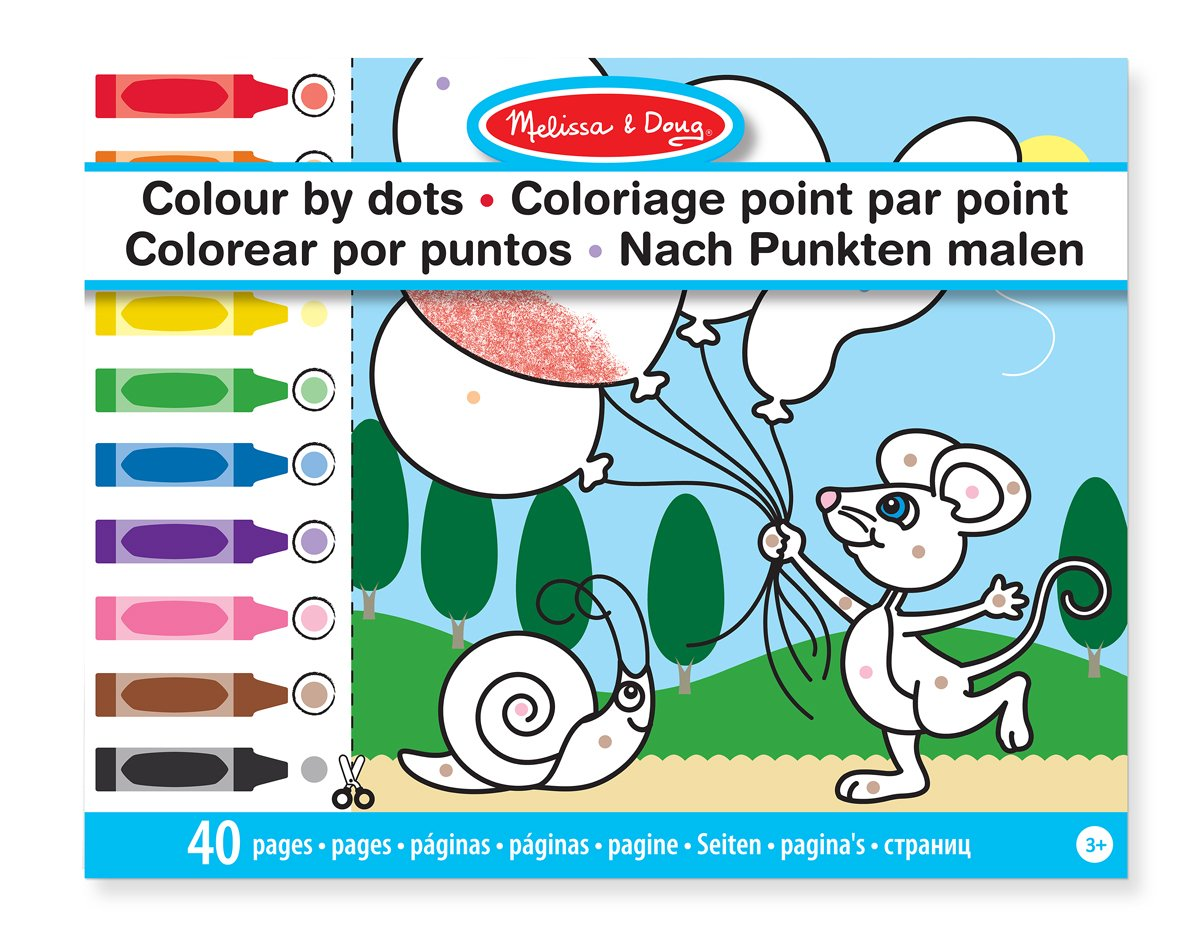 Melissa & Doug Color by Dots - 40 Pages, Includes Color Key for ...