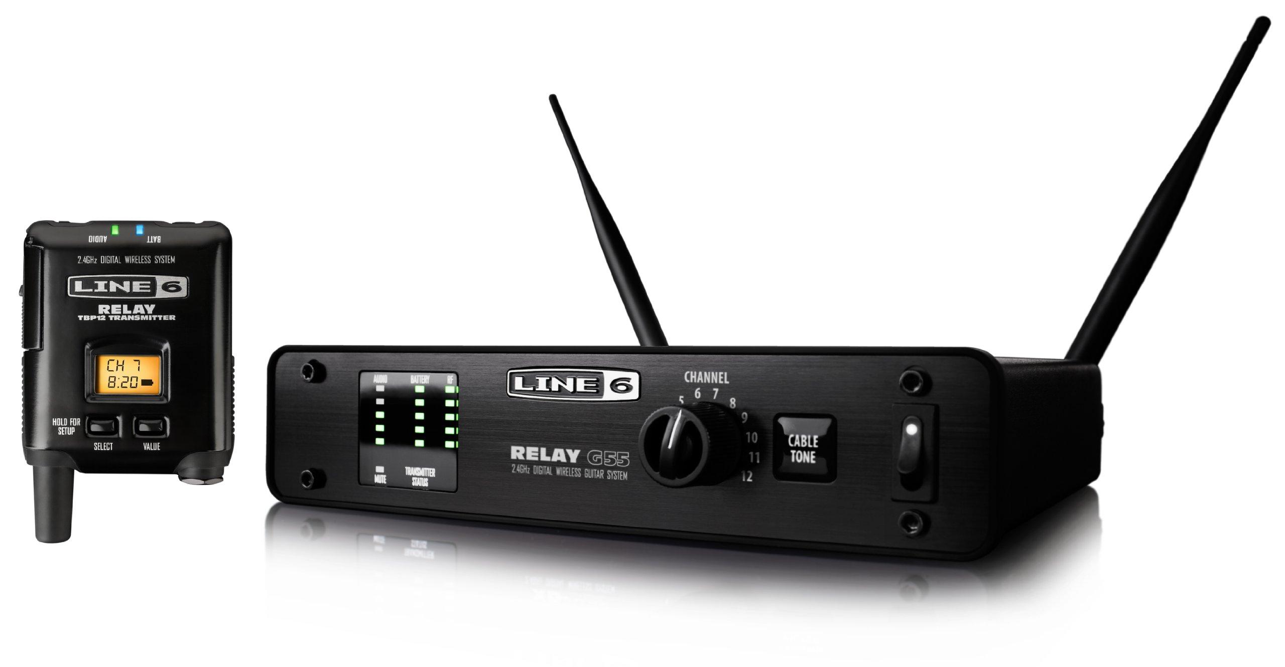 Line 6 99-123-0145 Relay G55 Digital Guitar Wireless System by Line 6