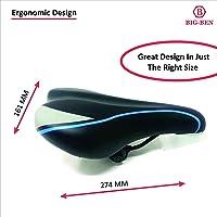 BIG-BEN Bicycle/Bike/Cycle Seat Saddle Soft foam Cushion (Black, Grey and Sky Blue)