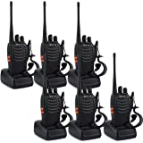 Retevis H-777 Two Way Radio Signal Band UHF 400-470MHz Rechargeable Walkie Talkies(6 Pack)