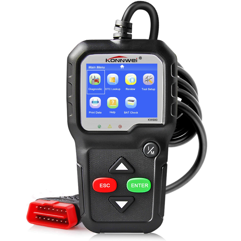 KONNWEI OBD2 Scanner Car Code Reader KW680 Enhanced Check Engine Light Scan Tool OBD II Scanner for Cars After 1996