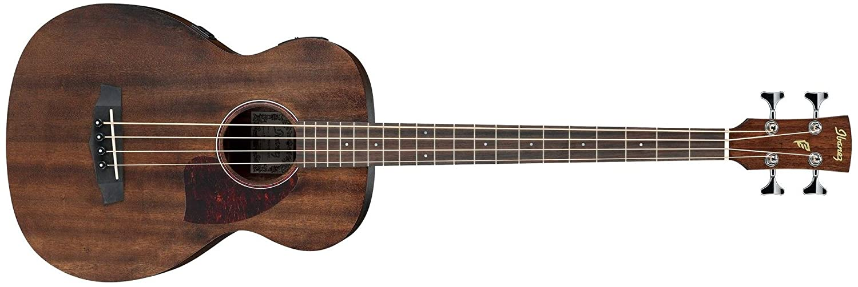 Ibanez PCBE12MH–OPN Akustische Bassgitarre Pocket Memory electrificado