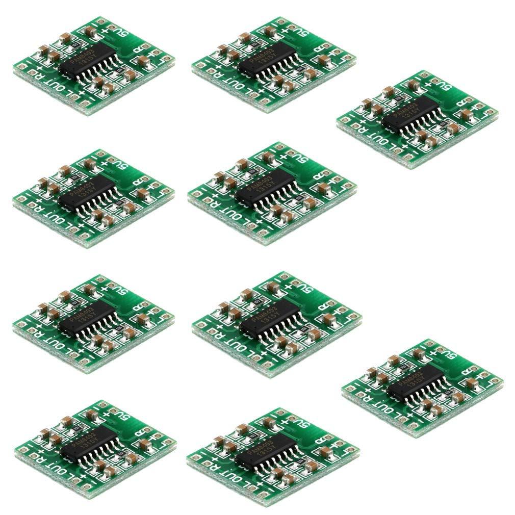 PAM8403 Mini-Digital-Verst/ärker 2,5-5 V Eingang 10 St/ück 2 x 3 W Klasse D