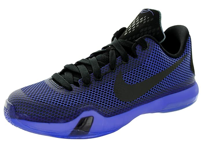 167134defbc8 NIKE Kobe X GS (Blackout) Black Persian Violet-VLT (4)  Amazon.co.uk  Shoes    Bags
