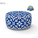 Inflatable Stool Ottoman Portable Travel Bean Bag Cushion Navy Color Indoor/Outdoor Round Inflatable Footstool for Kids and Adults Used for Camping Patio Home Office Yoga Meditation by FBTS Prime