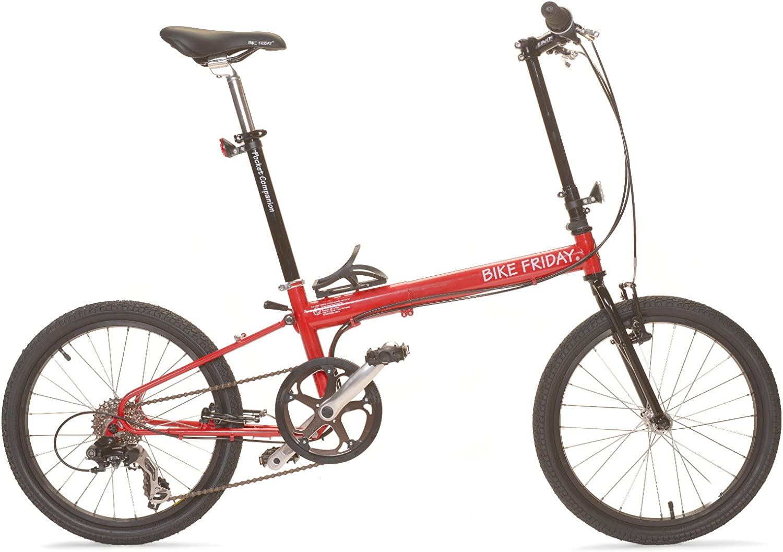 Bicicleta plegable para bicicleta Viernes – Pocket Companion bicicleta plegable de 8 velocidades para viajes y viajes con tubo superior ajustable: Amazon.es: Deportes y aire libre