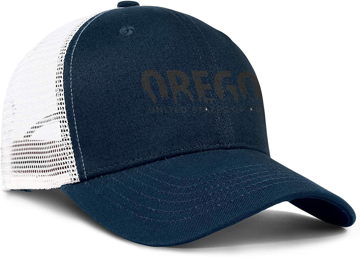 United State of America Oregon Men//Women Classic Baseball Hat Snapback Caps