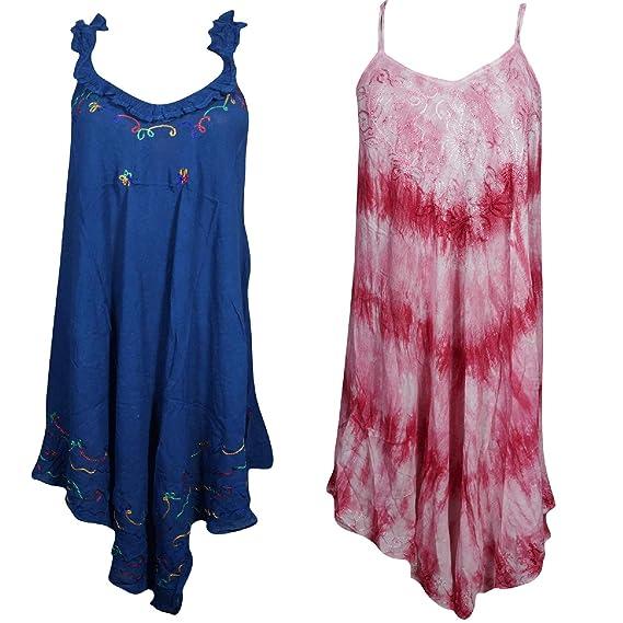 Amazon.com: Mogul - Vestido interior para mujer con bordado ...
