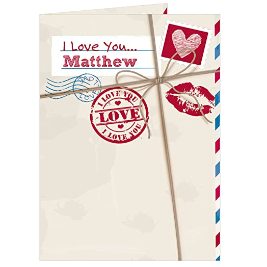 EXCLUSIVE Personalised Love Letter Card Free Personalisation