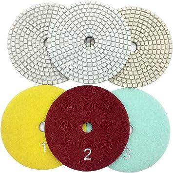 3/'/' Ceramic Diamond Floor Polishing Pads Concrete Floor Grinding Wheel Dry//Wet