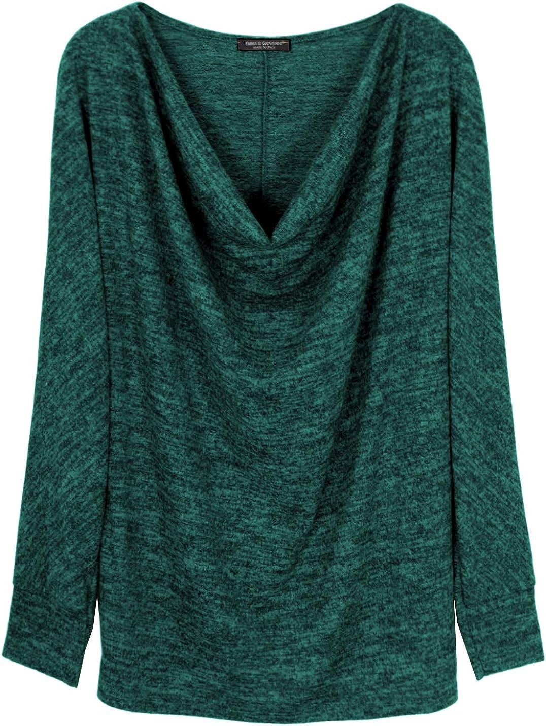 Made In Italy Oversized Oberteile Pullover Wasserfallausschnitt - Emma /& Giovanni - Damen