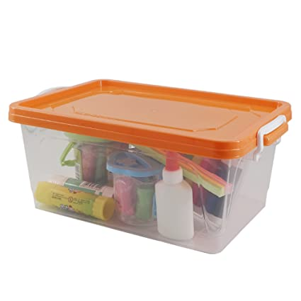 Amazoncom Pekky Plastic Stackable Toys Storage Containers with Lid