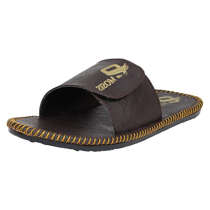 ea2fc4f6fde711 Emosis Men s Stylish 200 Tan Brown Black Colour Casual Ethnic Formal Office  Slide Slipper Cum Sandal  Buy Online at Low Prices in India - Amazon.in